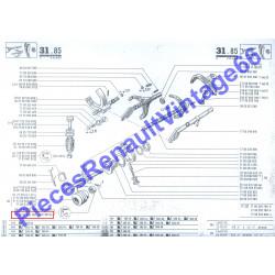 Joint spi de sélecteur de boite 352 Renault 12 et Renault 15 et A310 4 cylindres