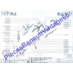 Soufflet de selecteur de boite de vitesse Renault 12 , Renault 15 ou Renault 17 nouveau model et A310 4 cylindres