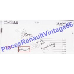 Durite entre le té 3 voies et le pied de carburateur pour Renault 12 et Renault 15 ref 12205
