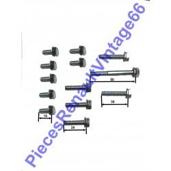 Kit de vis M6 de pompe à eau pour Renault 12, Renault 15