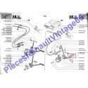 Caoutchouc de pédale d'accélérateur de Renault 12, Renault 15, Renault 17 et A310 4 cylindres