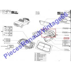 Joint de hayon arrière pour Renault 12 break sans la clé pour le jonc