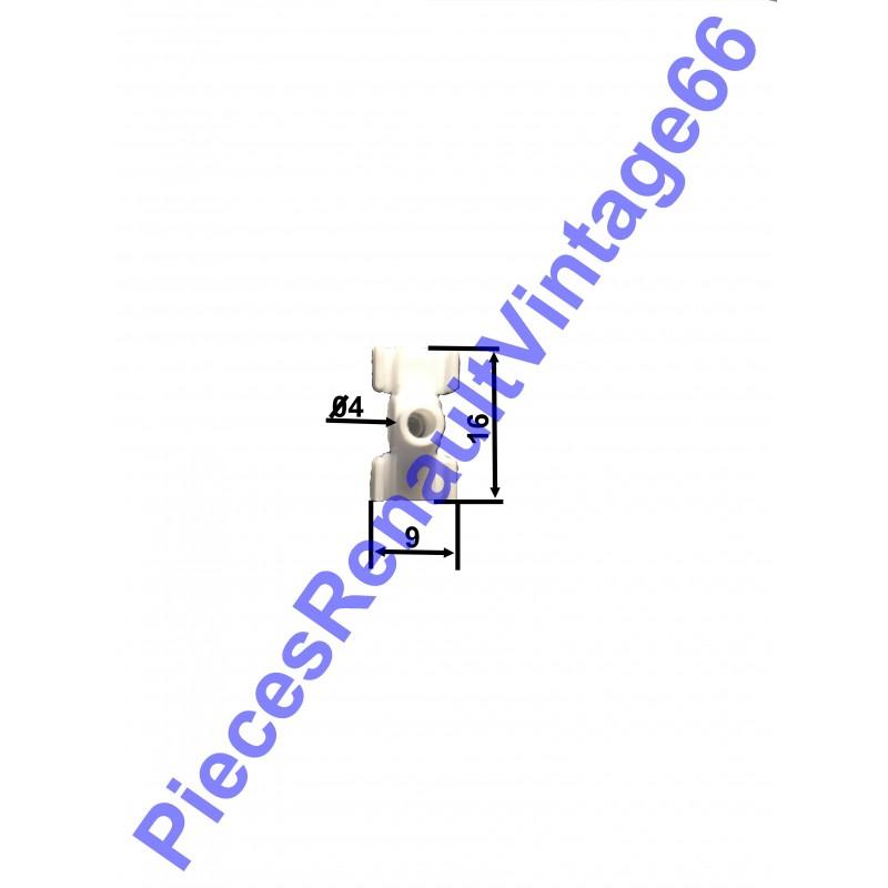 Agrafe pour baguette extérieure pour Renault 12 diamètre 4
