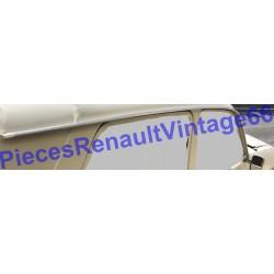 Jeux de 2 baguettes de gouttière de toit en plastique et chromé pour Renault 12 phase 2