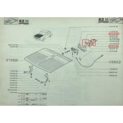 Kit de réparation pour serrure de capot pour Renault 12