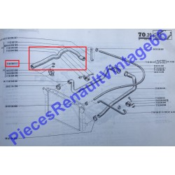 Durite supérieure de radiateur Renault 17 avec direction assistée