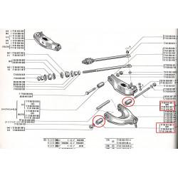 Silentbloc de bras inferieur ou de bras central arrière pour renault 12 ou renault 15 ou renault 17