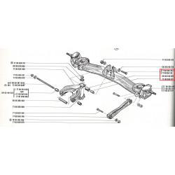 Bride de bras central arrière pour renault 12 ou renault 15 ou renault 17
