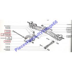 Axe de bras central arrière pour renault 12 ou renault 15 ou renault 17