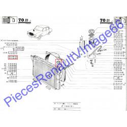 Bouchon de radiateur pour renault 12 ou renault 15 ou renault 17