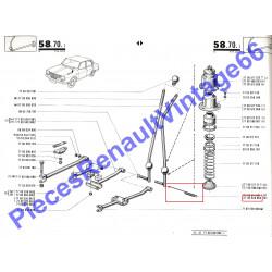 Ressort de levier de vitesse Renault 12, Renault 15 et Renault 17 phase 1