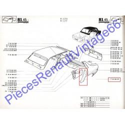 Passage de porte arrière gauche pour Renault 12 tous models