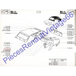 Passage de porte arrière droit pour Renault 12 tous models