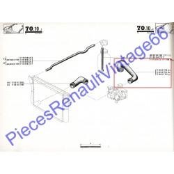 Durite supérieure radiateur avec colliers pour Renault 15
