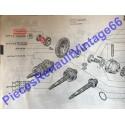 Joint torique de sortie de différentiel de boite de vitesse pour Renault 12 , Renault 15 ou Renault 17