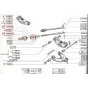 Silentbloc de tirant de chasse pour Renault 12, Renault 15 et Renault 17 tout model même gordini