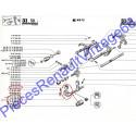 Rotule de sélecteur de boite de vitesse pour Renault 12, Renault 15 et Renault 17 tous models