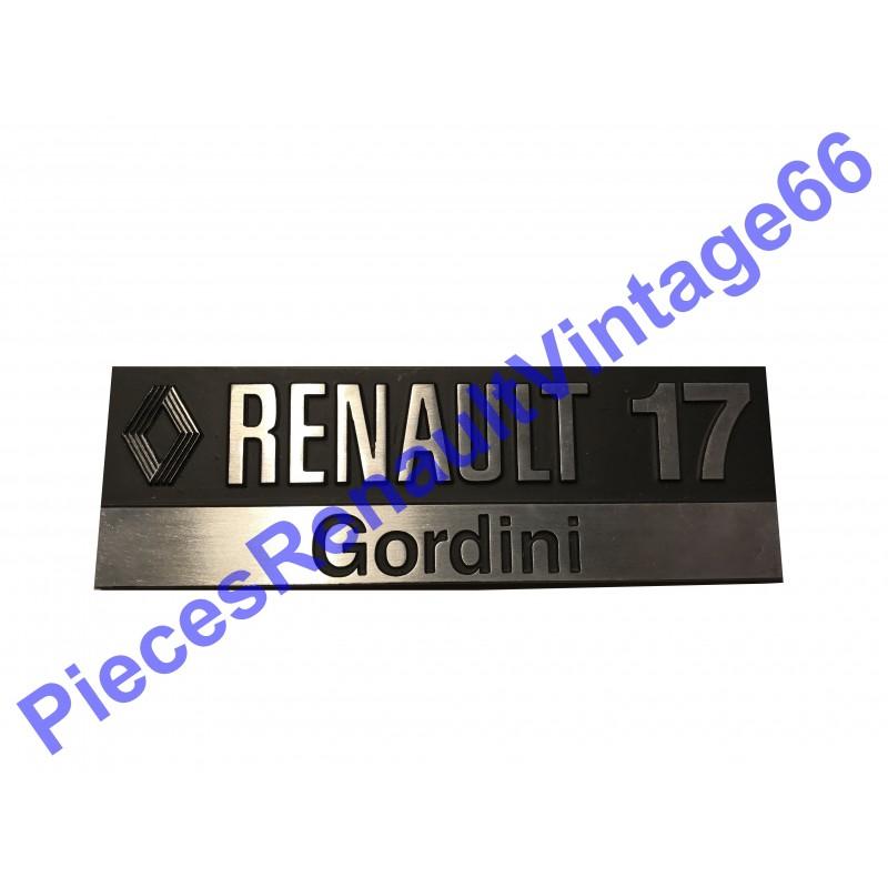 Monogramme Renault 17 gordini en aluminium