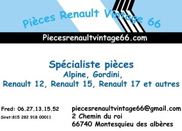 PiecesRenaultVintage66